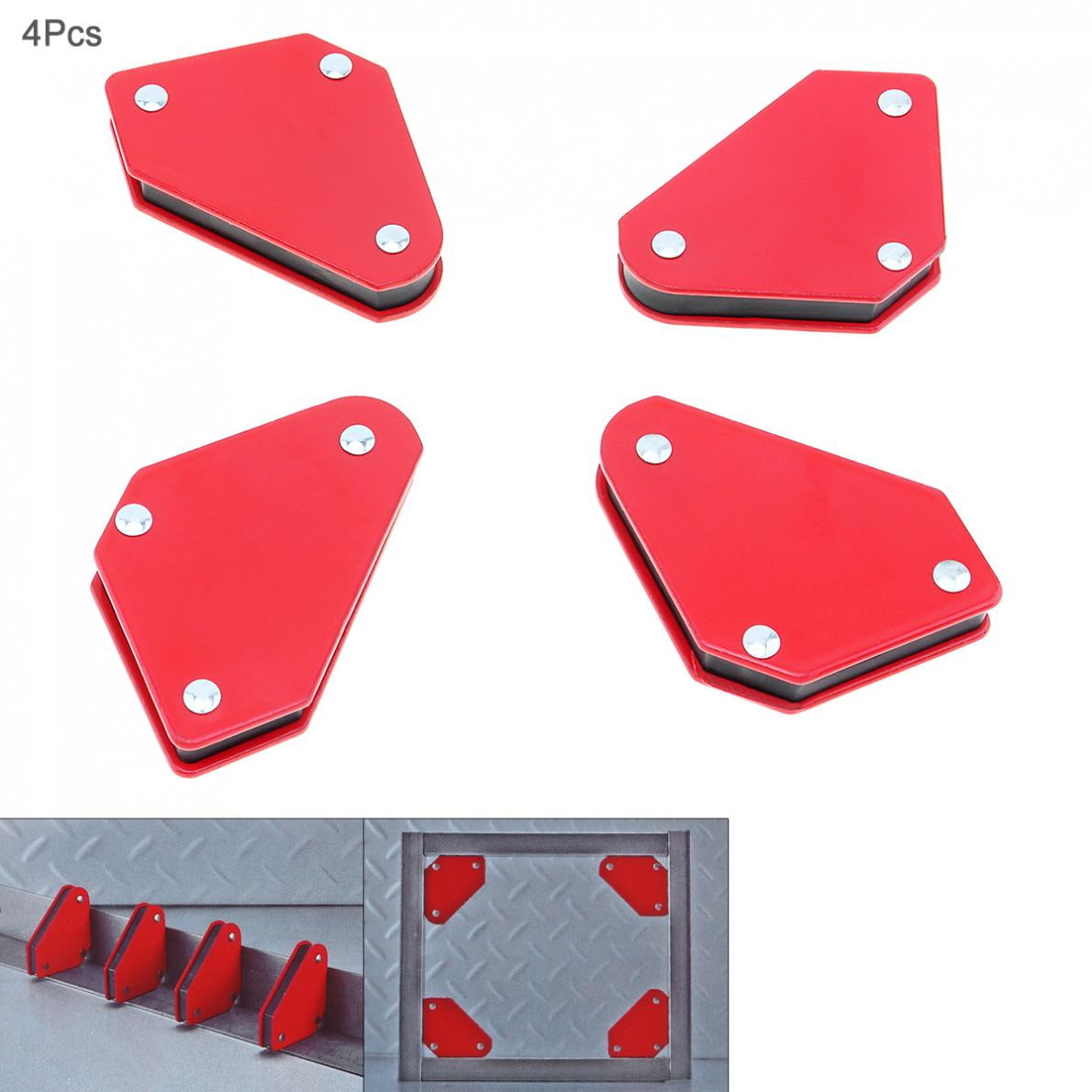 4 Pcs/lot Triangle Welding Positioner Without Switch 9Lb Magnetic Fixed Angle Soldering Locator Tools
