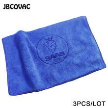 3pcs Car Accessories Auto Wash Towel Car Soft Microfiber Cleaning Towel Fit For Saab 9-3 93 9-5 9 3 9000 9 5 Car Styling Sticker