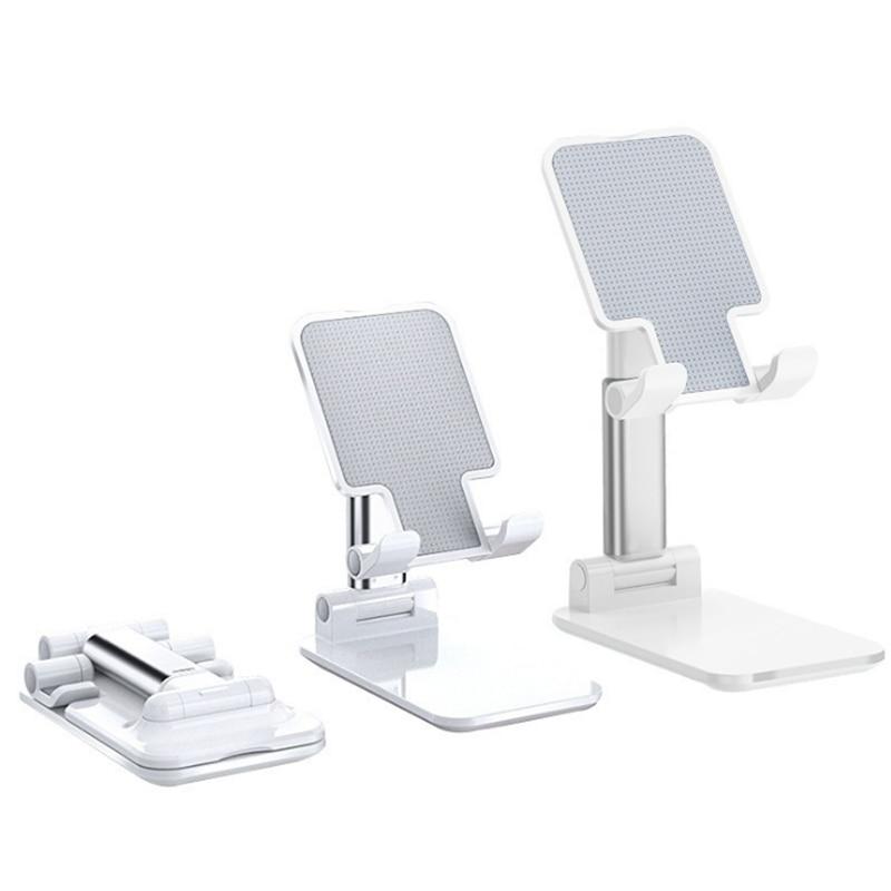 Nova mesa de suporte do telefone móvel suporte para iphone ipad xiaomi huawei metal desktop tablet titular mesa dobrável estender suporte