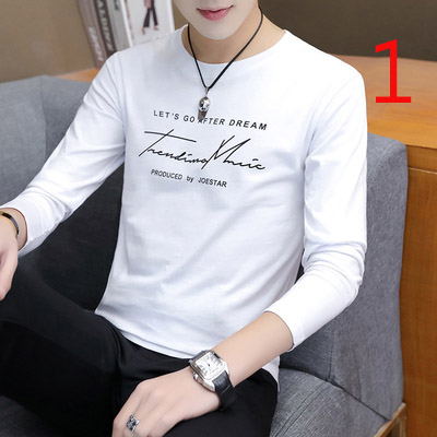 2019 autumn new long-sleeved t-shirt male Korean version of the trend loose bottoming shirt