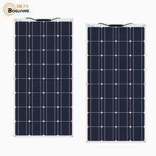 цена на 2pcs 100w 200 watt Solar Module charger solar Panel 12v or 24 Volt Solar cell china flexible Solpanel battery/yacht/RV/car/boat
