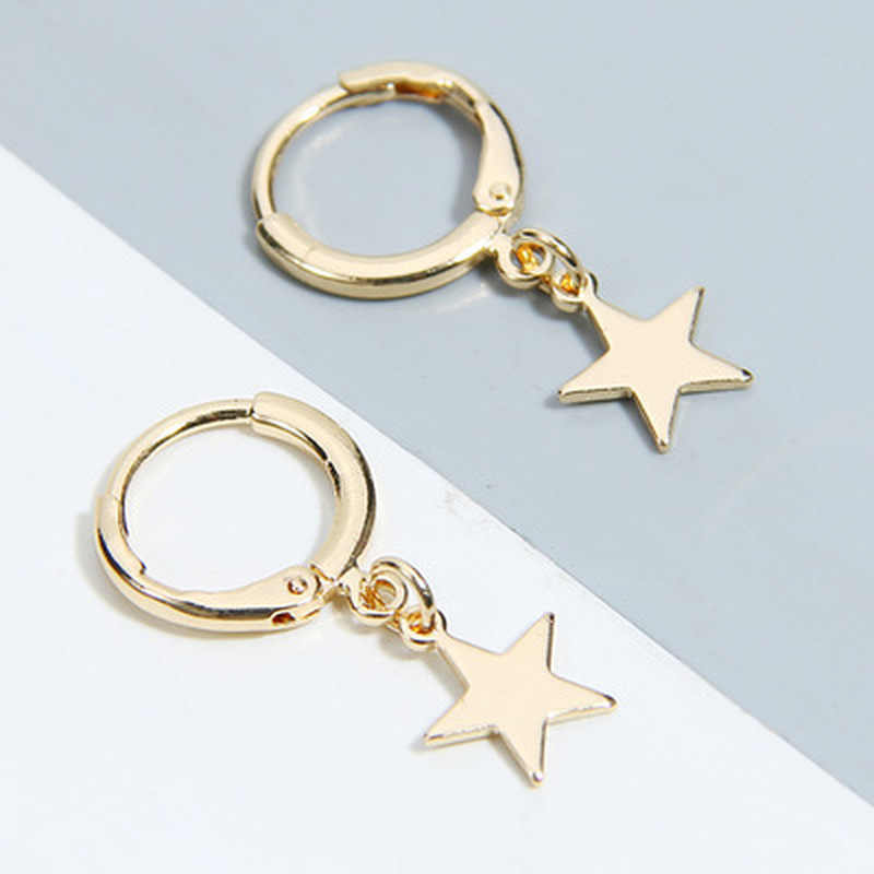 New Fashion Five-pointed Star Studs Best Selling Simple Popular Gold Stars Earrings Jewelry Wholesale