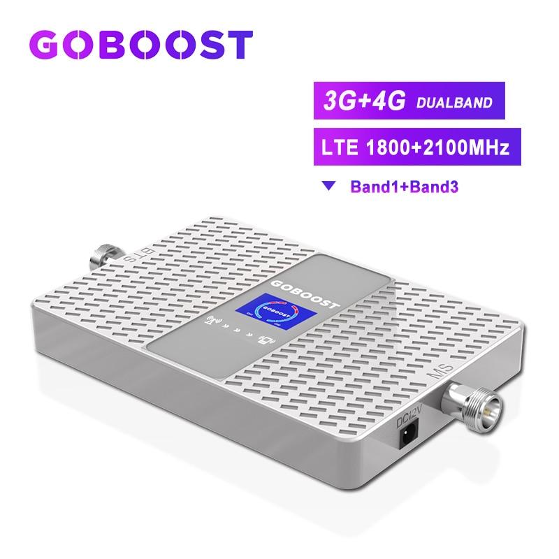 LTE 4G Amplifier Cellular Signal Booster 4G GSM 3G Booster LTE 1800 2100 Mobile Signal Booster GSM Repeater 1800 UMTS 2100 70dB