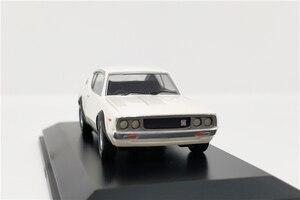 Image 3 - Kyosho 1:64 Nissan horizon 2000 GTR (KPGC110) modèle de voiture moulé sous pression blanc