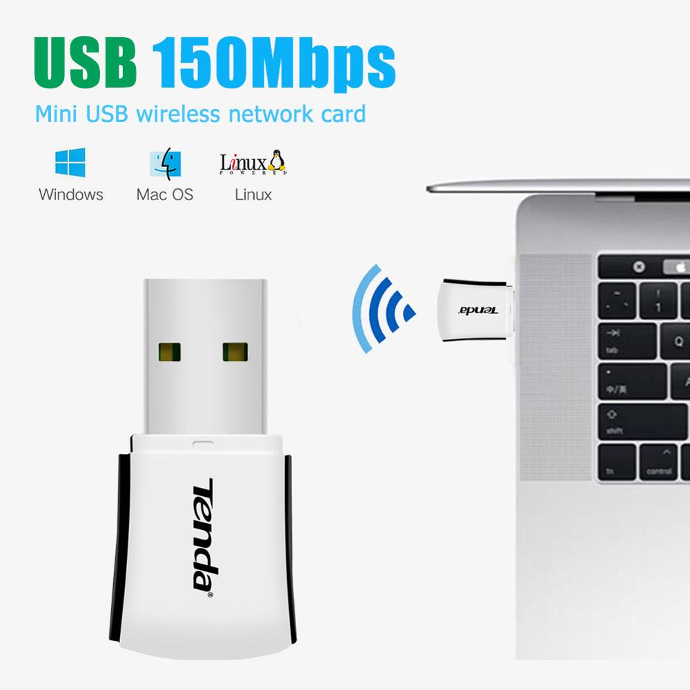 Tenda W311M мини USB 2,0 Сетевая карта Wi-Fi 150 Мбит/с Беспроводной совместного использования Wi-Fi Поддержка Настройка WiFi по одному нажатию WPS Шифровани...