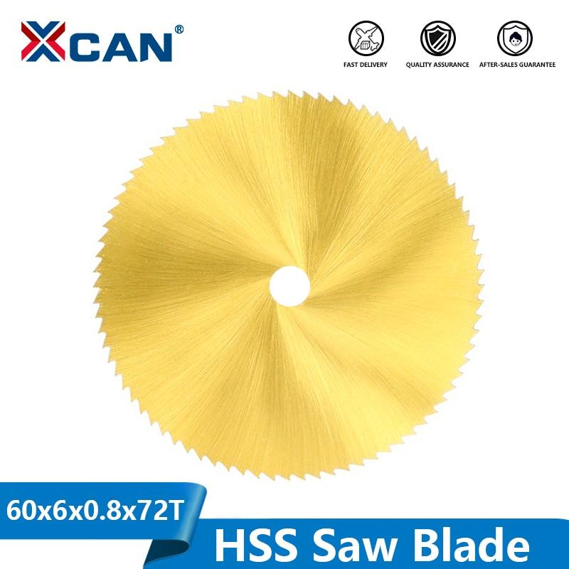 XCAN Titanium Coated HSS Saw Blade 60mm 72 Teeth Wood Metal Cutting Disc For Rotary Tools Mini Circular Saw Blade