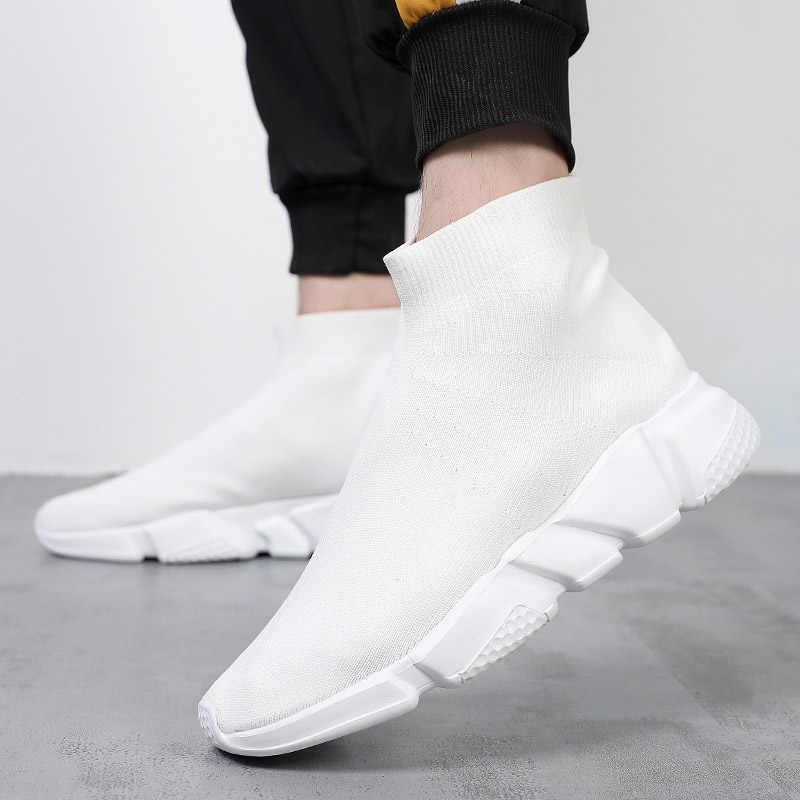 Çift nefes koşu ayakkabıları erkekler hafif çorap Sneakers kadın rahat çorap ayakkabı spor yürüyüş koşu ayakkabısı erkek