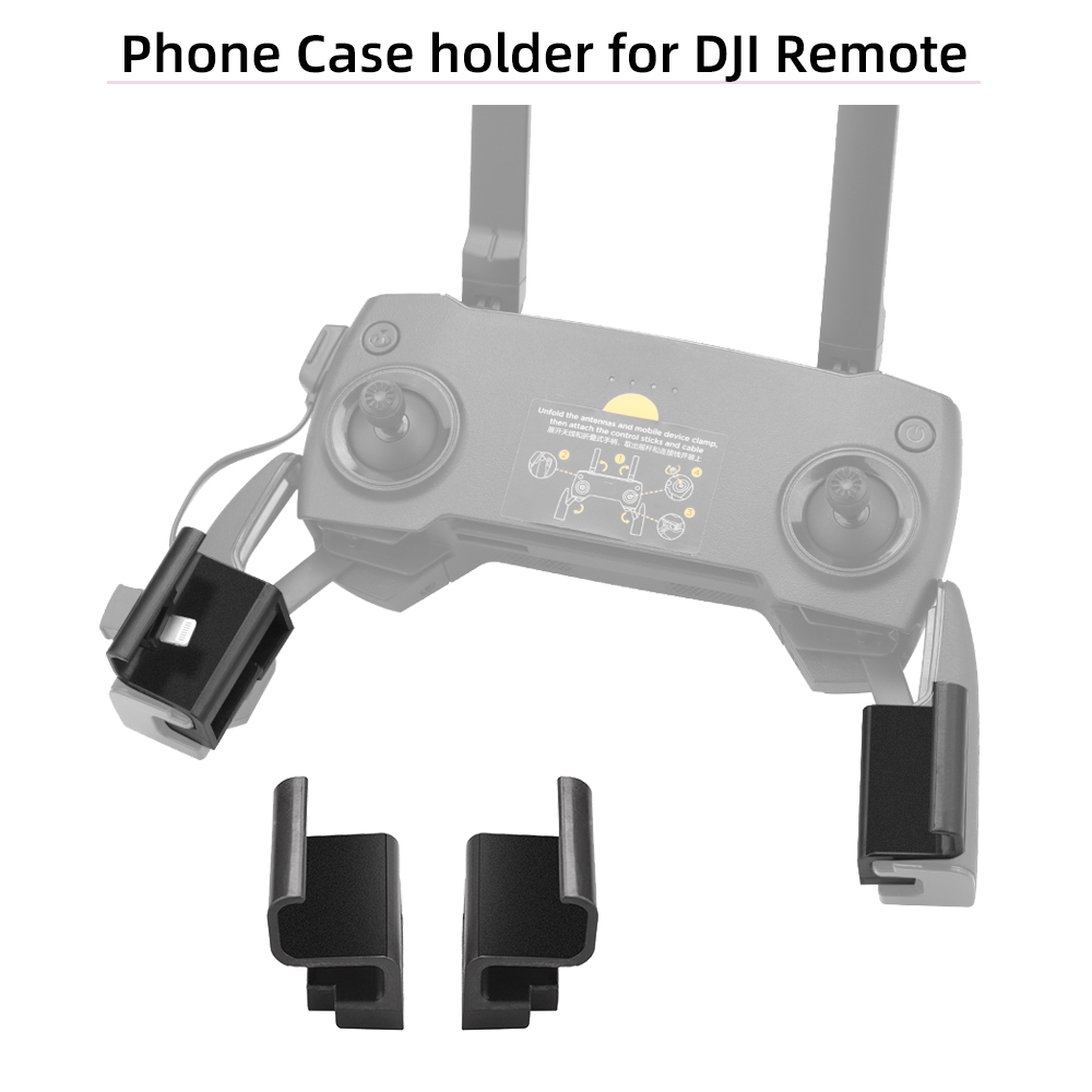 Remote Control Mount Extended Clip Easy Install Bracket Stable Cellphone Holder For DJI Mavic 2 Mavic Mini Mavic Pro/Air Spark