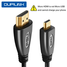 1080P Micro HDMI to HDMI Cable Gold-Plated 1m 1.5m 1.8m 3m 5m Micro HDMI Cable Adapter For TV XBox Tablet Camera Type D Phone