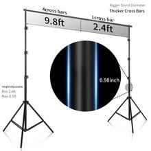 2.6 متر X 3 متر/8.5 * 10ft برو التصوير خلفيات الصور خلفية نظام دعم تقف للصور فيديو ستوديو حقيبة حمل