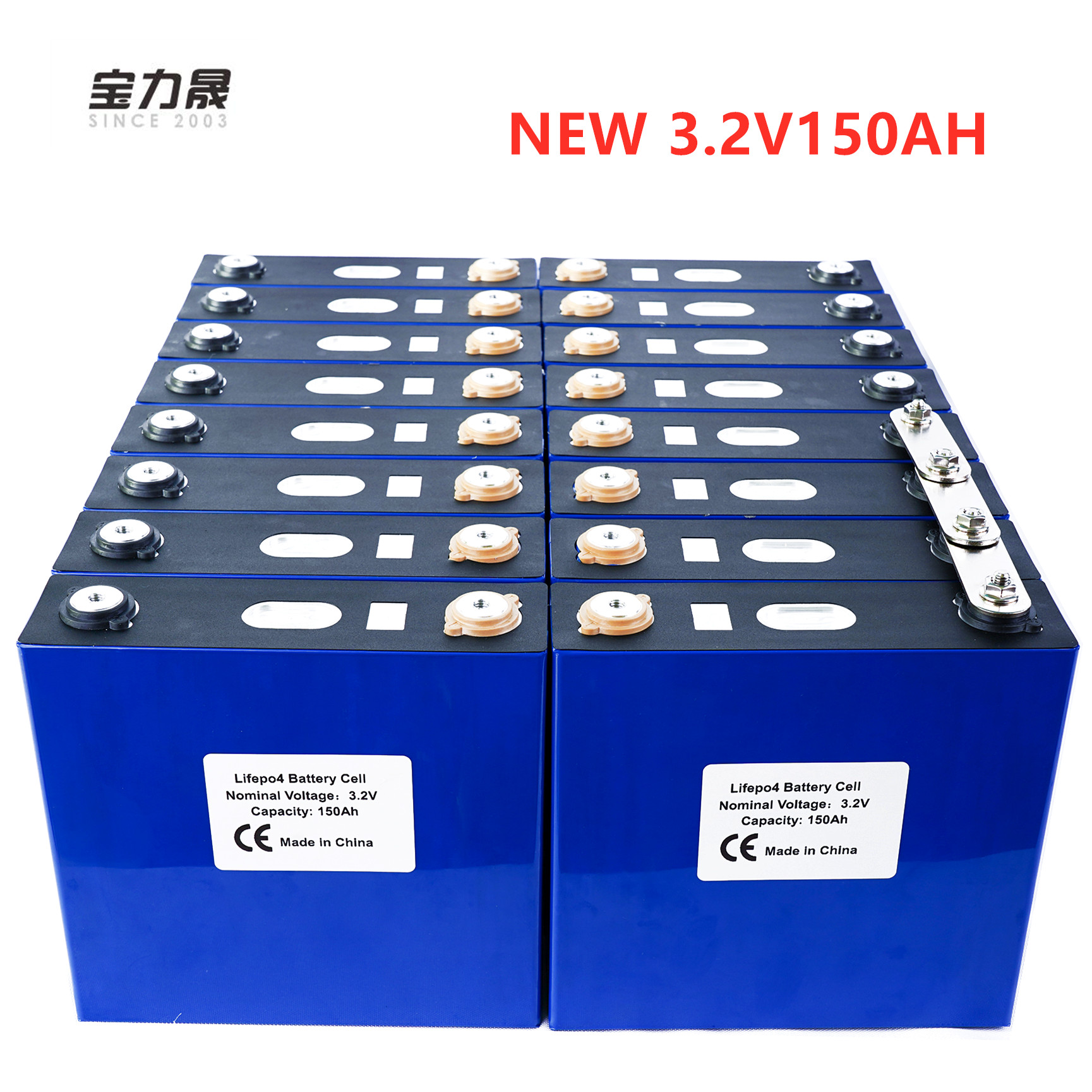 pces recarregável lítio ferro fosfato solar 24v150ah