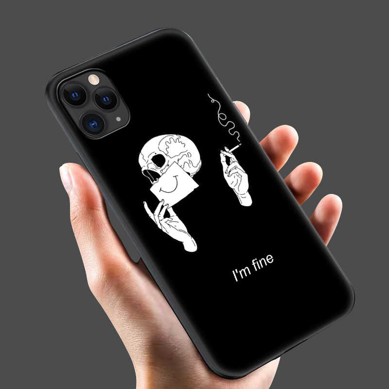 Czarny pokrowiec tpu na iphone 5 5s se 6 6s 7 8 plus x 10 pokrowiec silikonowy na iphone XR XS 11 pro MAX pokrowiec czarny biały prosty design