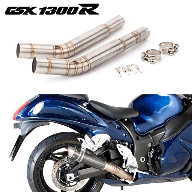 אופנוע פליטה GSX1300R פליטה מחבר קישור לסוזוקי Hayabusa GSX1300R צעיף התיכון צינור 2008 2015 שנה