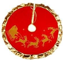 Рождественская елка юбка ковер вечерние украшения Рождественское украшение для дома Нетканая Рождественская елка юбка фартуки
