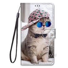 Funda de cuero para Xiaomi Mi Poco X3 NFC 10 T 10 T Pro Lite A3 A2 6X, carcasa con dibujos animados de animales pintados