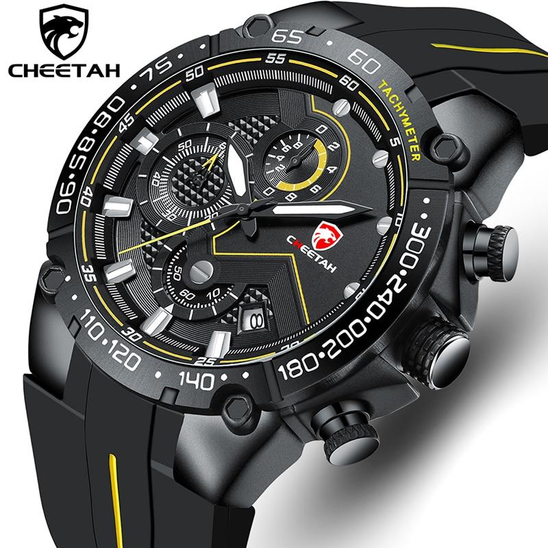 Novos relógios dos homens cheetah topo marca de luxo cronógrafo à prova dwaterproof água relógio de quartzo para homem data relógio esportivo masculino relogio masculino