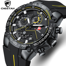 New Mens Watches CHEETAH Top Luxury Brand Chronograph Waterproof Quartz Watch for Men Date Sports Clock Male Relogio Masculino