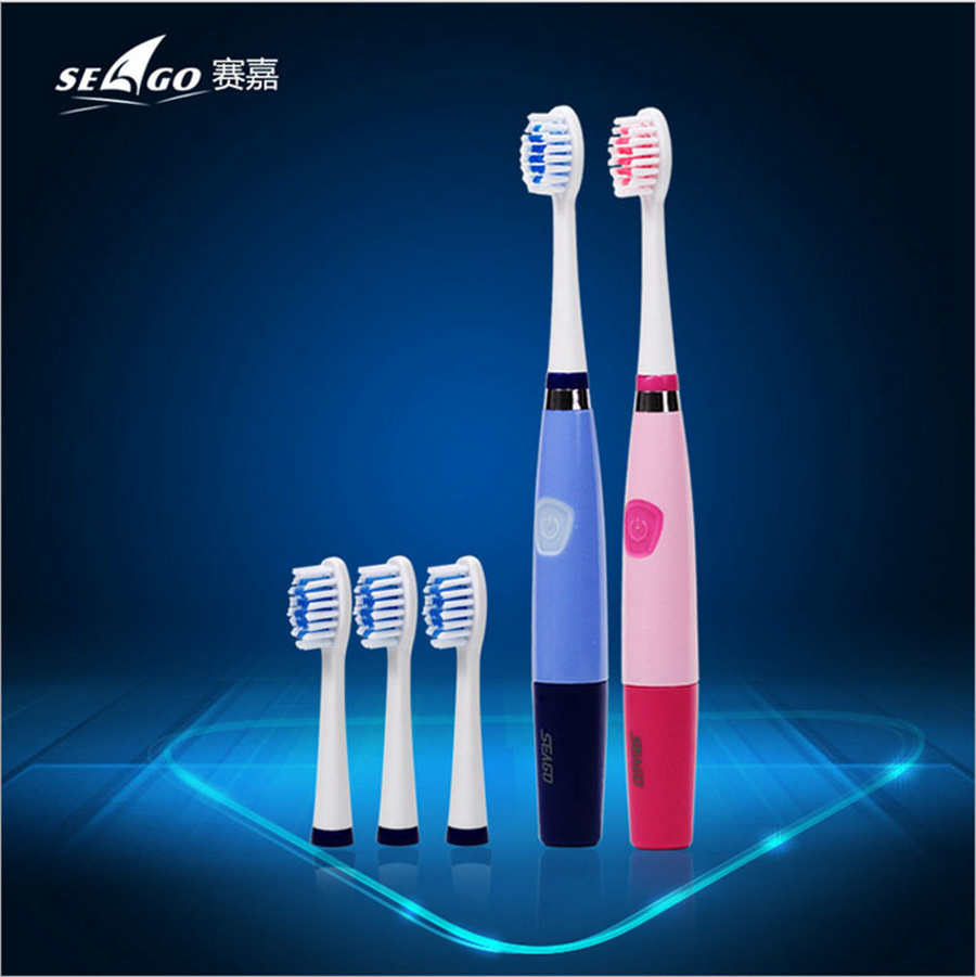 Seago Adult Electric Teeth Cleaner Toothbrush Sonicare Products Cepillo Dientes Portatil Battery Sonic Gum Toothbrush Sg-915 image