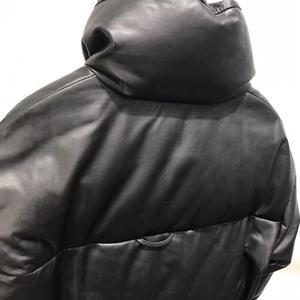 Image 5 - سترة جلدية حقيقية النساء الأبيض بطة أسفل جاكيتات جلد الغنم معطف 2020 الشتاء سميكة الدافئة معاطف وسترات النساء حجم كبير