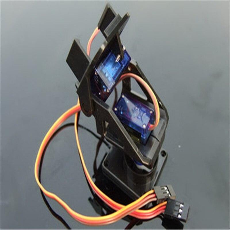 Support de caméra FPV en Nylon, 2 pièces, Servo SG90 9g compatible pour Arduino, bricolage, jouet Robot RC, modèle robotique, télécommande, enseignement