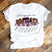 Melanin Women T Shirt God Says You Are Black Girl is Beautiful Magic Tshirt Femme Vogue Black Lives Matter Juneteenth Tops(China)