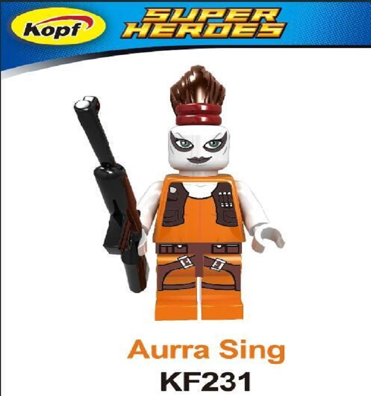 Single Sale Space Aurra Sing Bounty Hunter Custom Ponytaill Plastic Doll Set 7930 Building Blocks For Kids Gift Toys KF231