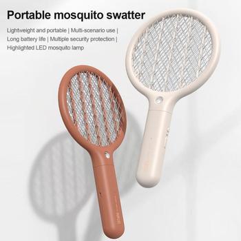1PCS Electric Mosquito Racket USB Rechargeable Mosquito Killer Handheld Electric Fly Killer Swatter Home Garden Product tanie i dobre opinie 100-240 v 3-warstwowa 2500 V 2-4 Godzin Elektryczne