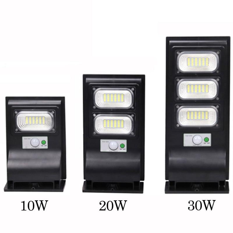LED outdoor solar street light PIR Motion Sensor Wall Light  Adjustable Waterproof IP65 10W 20W 30W Yard Path Home Garden Lamp 2