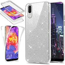 Glitter Front + Back 360 PC + TPU Full Phone Case for Huawei P30 P20 Pro P10 Lite Honor 20 10 8X Y5 Y6 Y7 2018 2019 Cover Case(China)