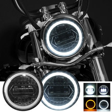 5.75 Inch LED Motorcycle Projector Headlight DRL High/Low Beam for Harley Davidson Sportster Dyna XL 883C 1200C FXD Headlamp FX