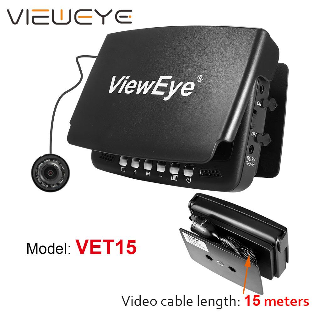 """Видео рыболокатор для подводного льда, видео рыболокатор, камера для рыбалки, 8 шт., инфракрасный светодиодный 4,"""" дюймовый монитор, камера, комплект - Цвет: VET15"""