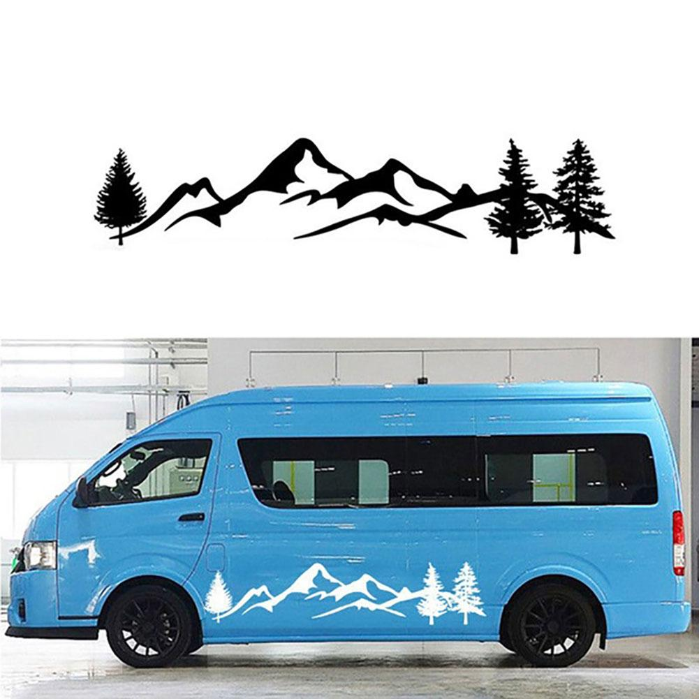 Car Sticker Auto Tree Mountain SUV RV Camper Car-Styling Vehicle Reflective Decals Sticker Decor Accessories(China)