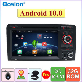 Autoradio 32G ROM Quad Core For Audi A3 8P 2003-2011 Car Multimedia DVD 2 Din Android 10.0 GPS Navi Rear View Camera OBD DAB 4G image