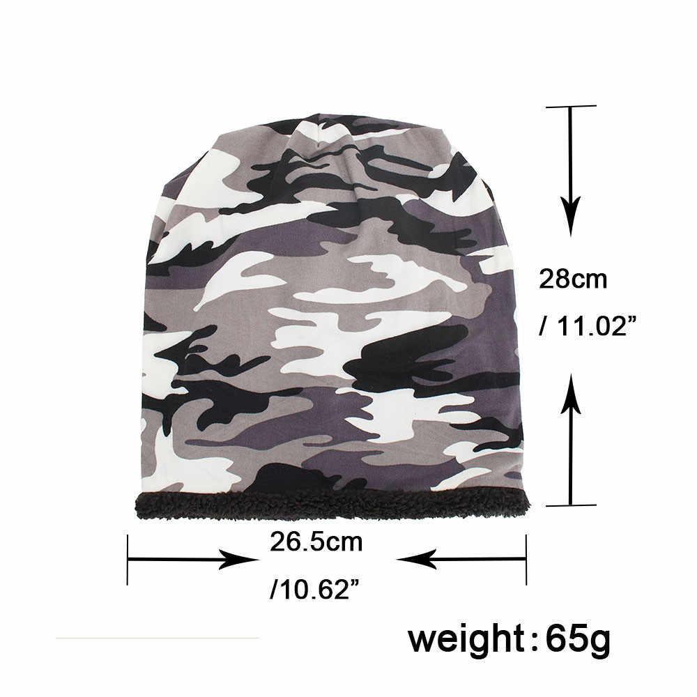Hip-hop สไตล์ Pentagram ชาย Beret ผู้หญิง Baggy Camouflage หมวกถักหมวกขนสัตว์ฤดูหนาวหมวก Beanie Skull หมวก Beret gorro invierno