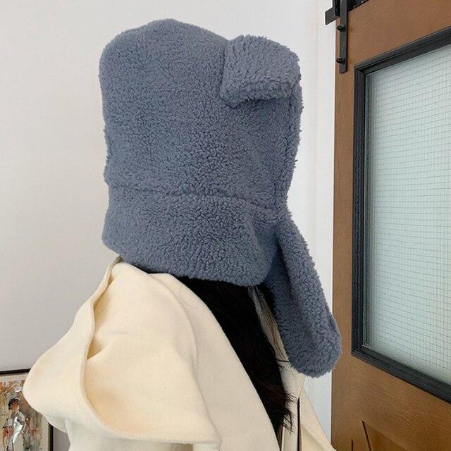 Фото зимний аксессуар милая шапка с шарфом в корейском стиле теплый