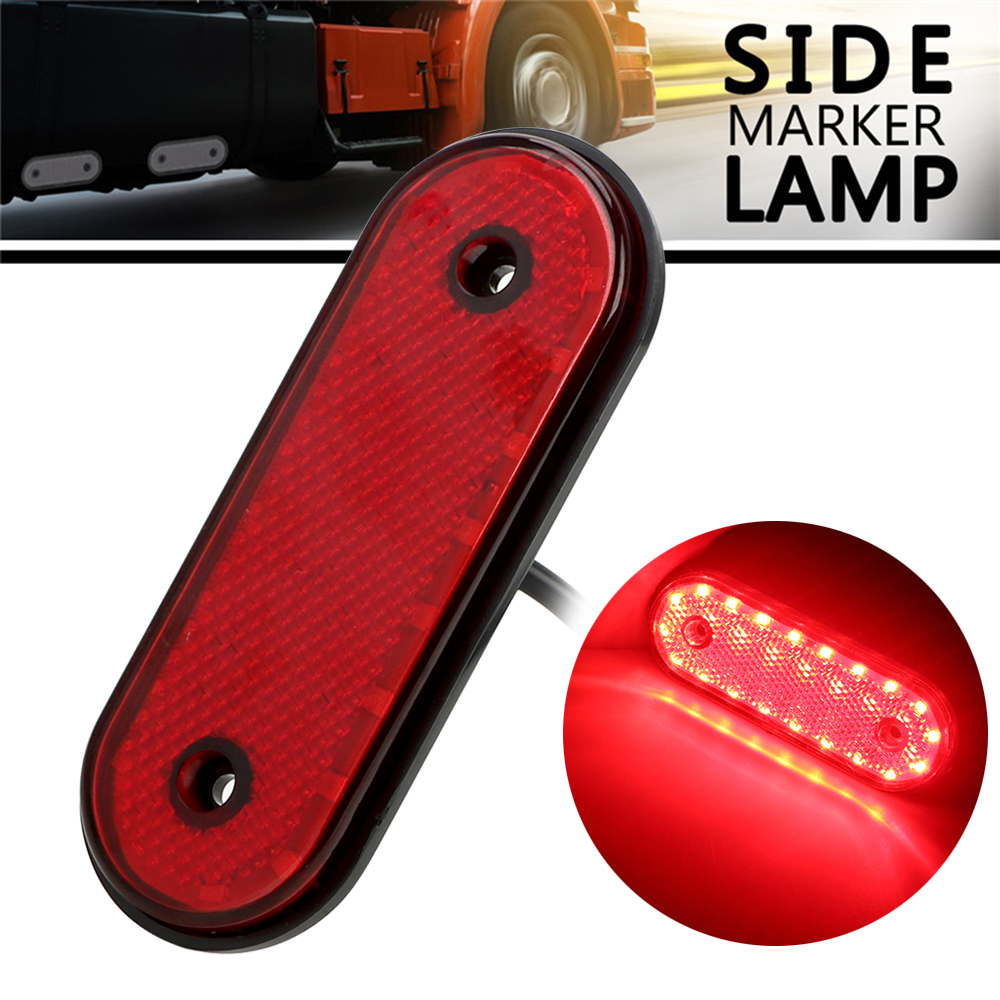 LEEPEE Red Yellow White Truck Side Marker Lights Clearance Lamp Auto Accessories <font><b>20</b></font> LED <font><b>DC</b></font> 24V Signal Lamp image
