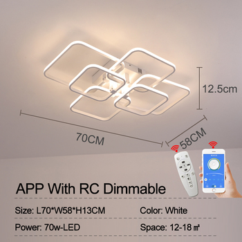 Square Circel Rings Chandelier For Living Room Bedroom Home AC85-265V Modern Led Ceiling Chandelier Lamp Fixtures Free Shipping 10