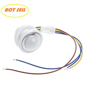 40mm LED PIR Detector Infrared Motion Sensor Switch with Time Delay Adjustable Drop Shipping Support(China)