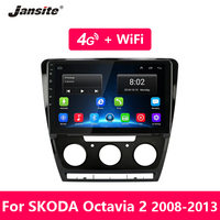 Jansite Android Car Radio for Skoda Octavia 2 A5 2008 2013 GPS navigation 4G Network WIFI audio player 2 din Radio Tuner