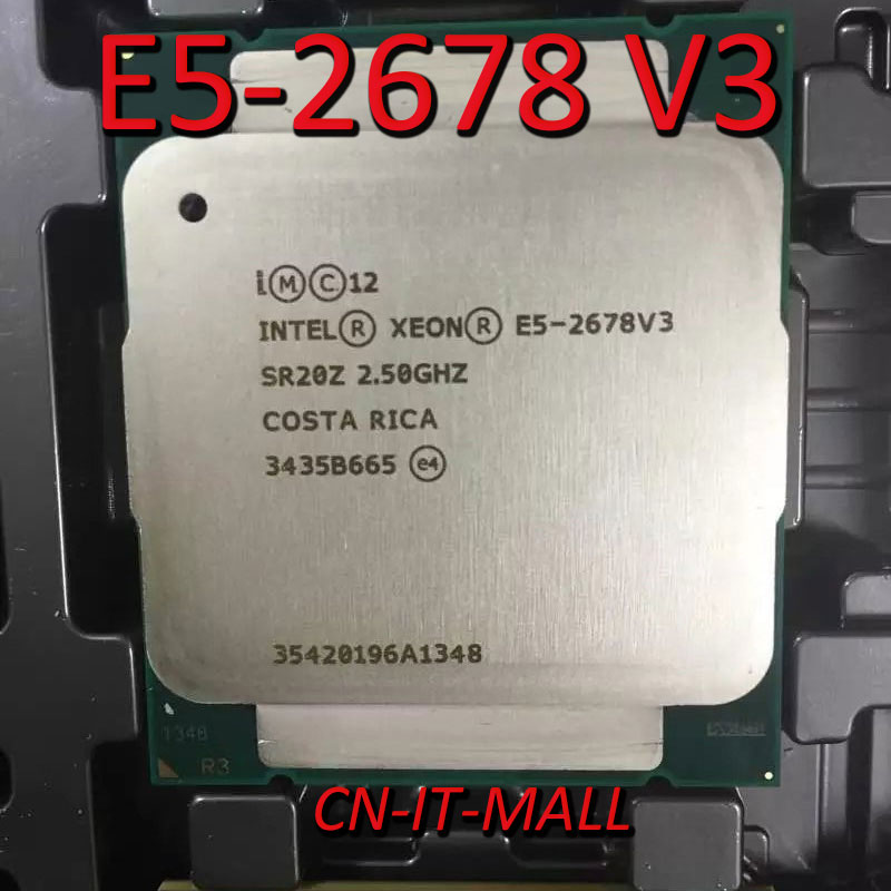 Pulled E5-2678 V3 Server Cpu 2.5G 30M 12Core 24 Thread Socket 2011-3 Processor