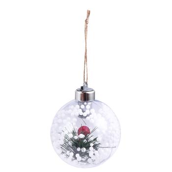 1PC LED Light wiszące boże narodzenie Ball Ornament boże narodzenie drzewo wisiorek lampy wiszące prezent ozdobne bombki dla domu Bar boże narodzenie tanie i dobre opinie 1 szt MU5492313