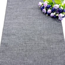 1pc NEW Gray Khaki Table Runner Imitation Linen Cloth Rustic Wedding Christmas Party Banquet Decoration for Dining