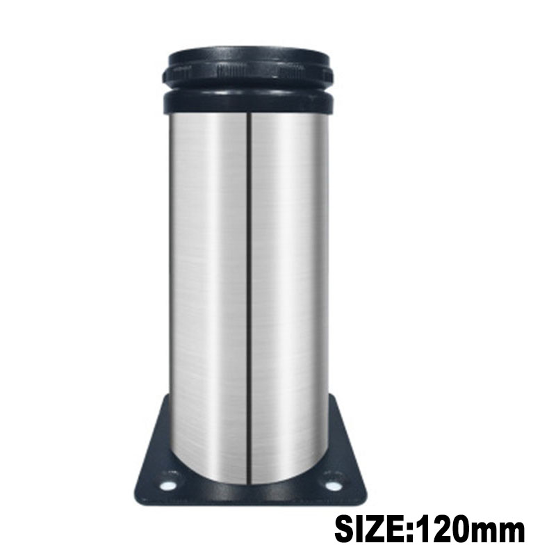 1Pcs Stainless Steel Leg Round Metal Feet Adjustable Kitchen Cabinet Stand Base