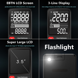 "Image 3 - BSIDEมัลติมิเตอร์แบบดิจิตอลแบบพกพา3.5 ""จอแสดงผลLCD DC ACโวลต์มิเตอร์แบบอนาล็อกTester DIYเมตรความจุNCV Ohm hz Tester"