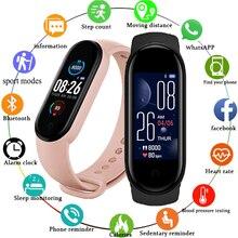 M5 masculino feminino relógio inteligente esporte smartwatch freqüência cardíaca monitor de pressão arterial pulseira de fitness para android/ios