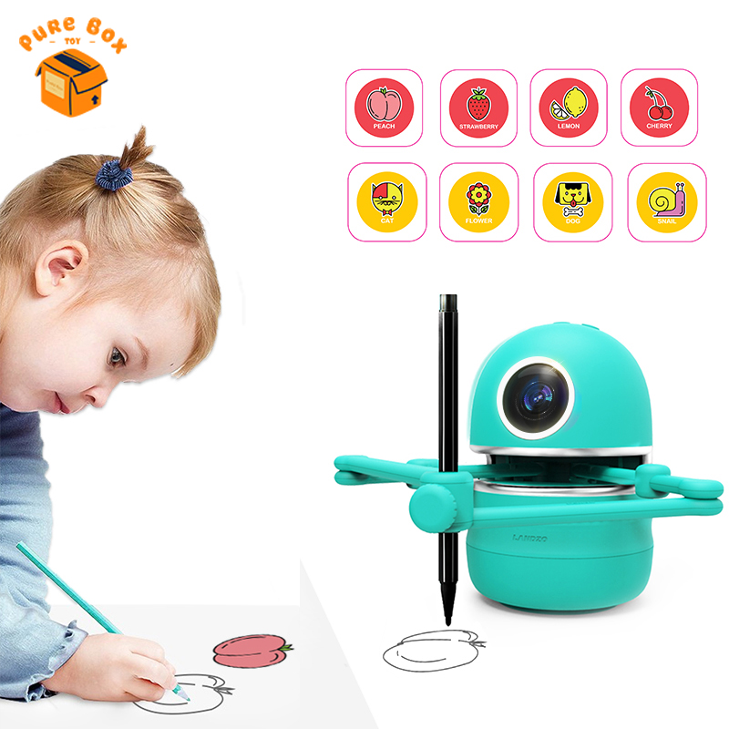 Kids Drawing Robot Toys Intelligence Automatic Painting Doodle Machine Learning Educational Toys For Children Drawing Robots