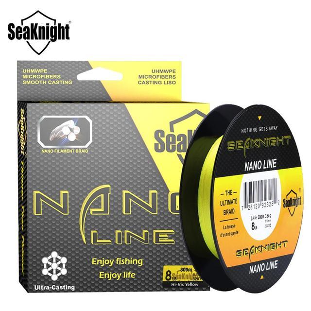 $ US $5.53 SeaKnight NANO 100M 300M 4 Strands Braided Fishing Lines Multifilament PE Fishing Line 4LB 6LB 8LB 10LB  Diameter 0.07-0.12mm