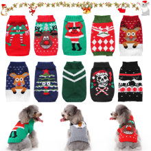 Pet Cat Sweater Clothes For Small Dog Christmas Cats Coat Halloween Warm Jacket Knitting Costume 35