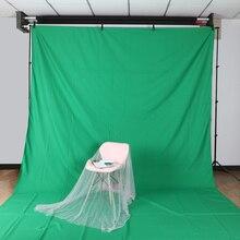 цена на High quality 3M X 6M Cotton Chromakey Green screen Muslin background cloth backdrop For Photo lighting studio