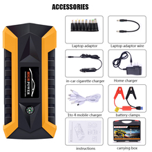Car Jump Starter Portable External Battery Charger 500A Peak with 12000mAh – Emergency Jump Pack Auto Jumper